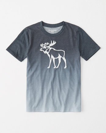 kids dip-dye logo graphic tee