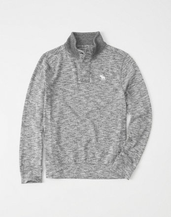 kids textured icon mock henley