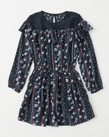 kids ruffle peasant dress