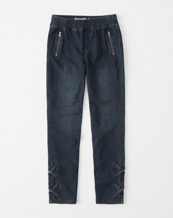kids lace-up knit jegging