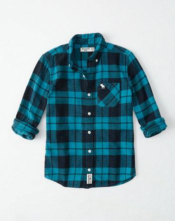 kids flannel button-up shirt