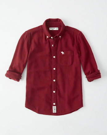 kids flannel button-up shirt