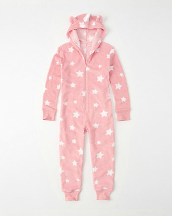 kids patterned ears onesie