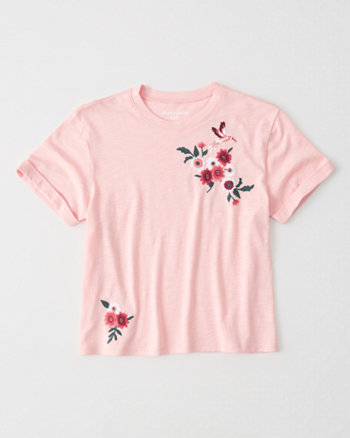 kids embroidered tee