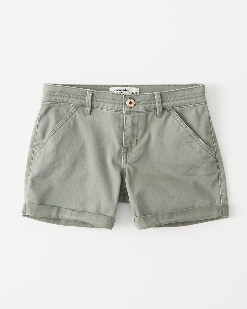 a360487474e girls twill midi shorts