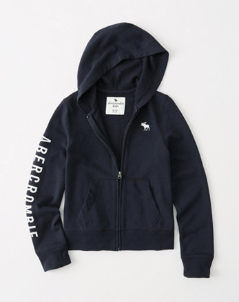 Abercrombie & Fitch Iconic Full-zip hoodie Clearance Pink AJX