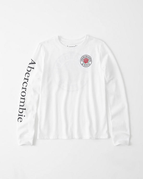 girls a&f easy fit tee | girls clearance | Abercrombie ca