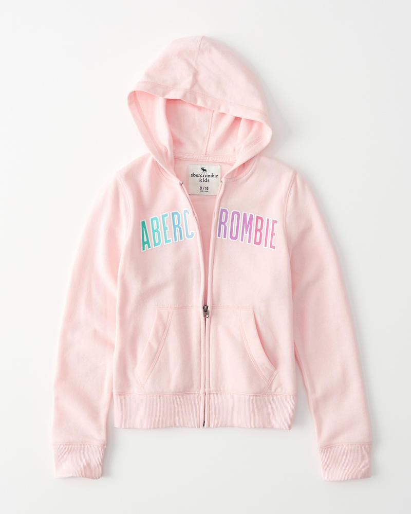 0f1cdf62ebb girls logo graphic full-zip hoodie