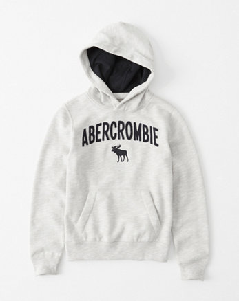 A mostly navy muscle style hoodie sweatshirt. It has ABERCROMBIE appliqued in white on one sleeve. It has a kangaroo pocket at tummy. Abercrombie kids boys size youth small/large () navy muscle style hoodie sweatshirt/jacket 2 pc lot.