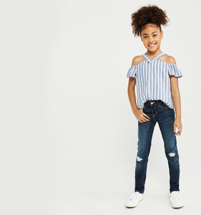 fashionable and attractive package new list browse latest collections Girls Jeans | abercrombie kids