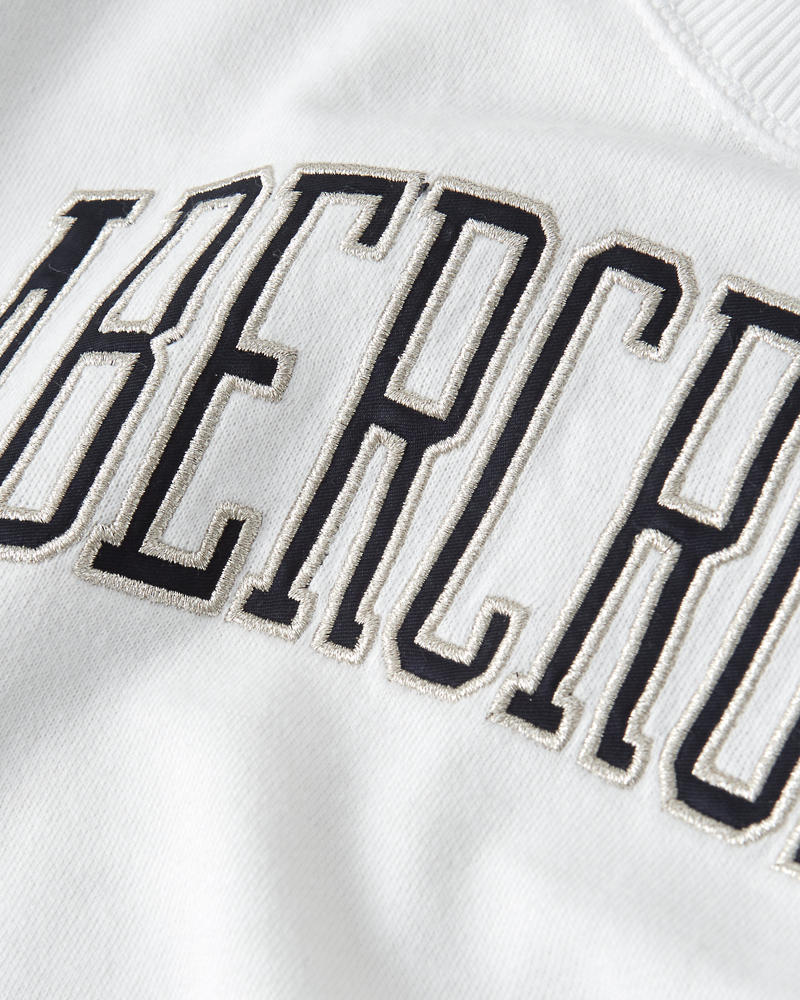 Striped Sleeve Logo Sweatshirt by Abercrombie & Fitch
