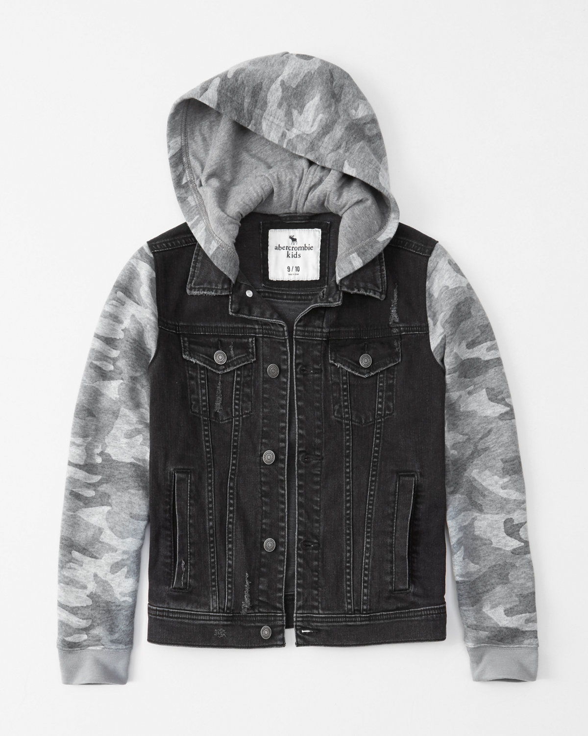 Twofer Stretch Denim Camo Jacket by Abercrombie & Fitch