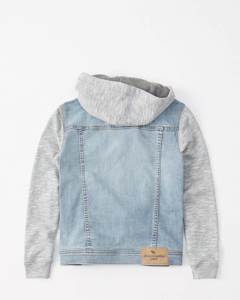 Twofer Stretch Denim Jacket by Abercrombie & Fitch