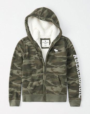 1dd2358d8019 logo sherpa-lined hoodie