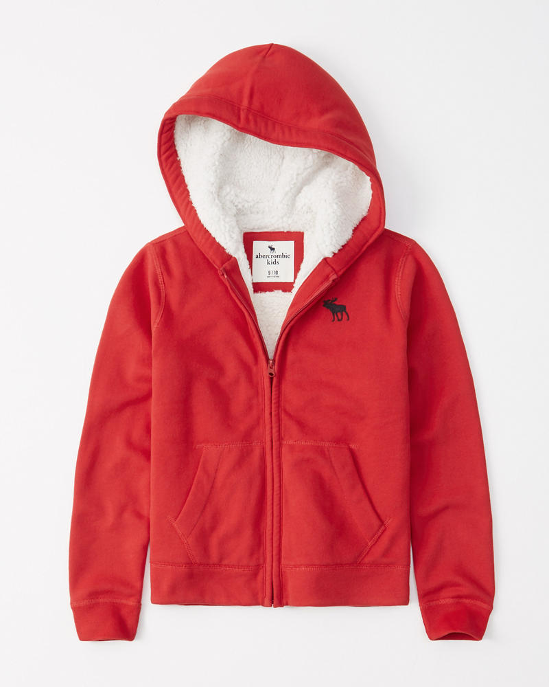 Boys Icon Sherpa Lined Hoodie Boys Cozy Shop Abercrombie Com