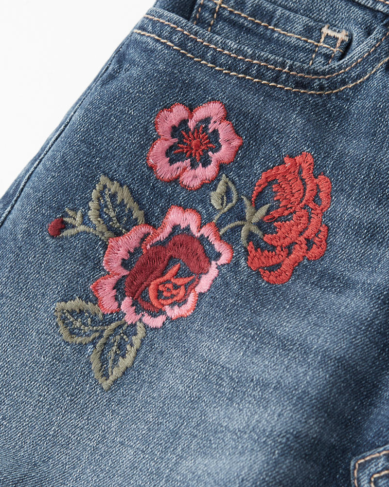 Embroidered Denim Skirt by Abercrombie & Fitch