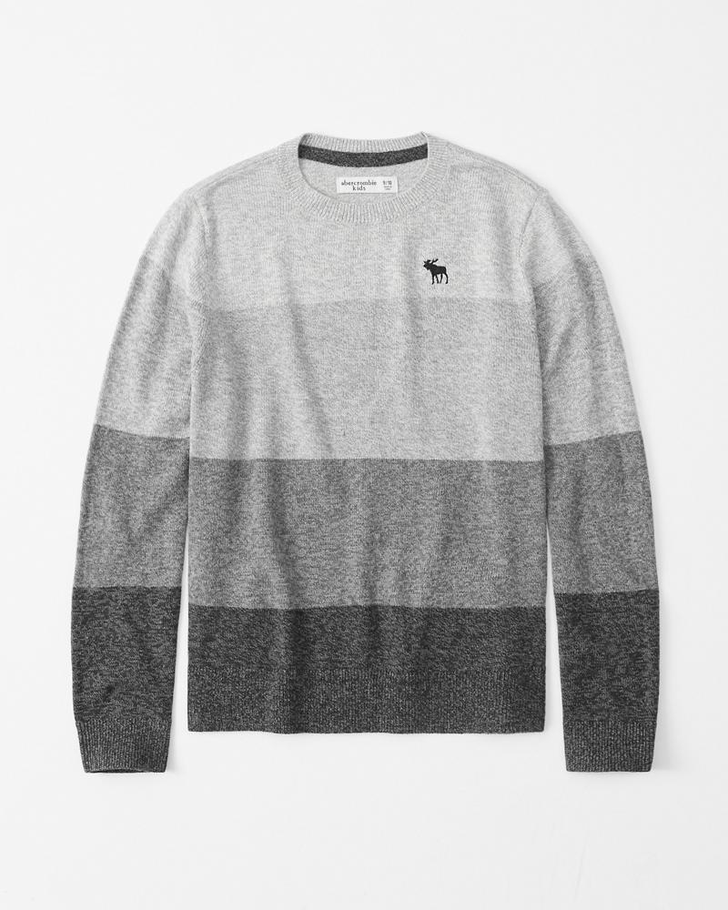boys suéter de intarsia con cuello redondo | boys tops | Abercrombie.com