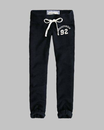 kids a&f classic banded crop sweatpants