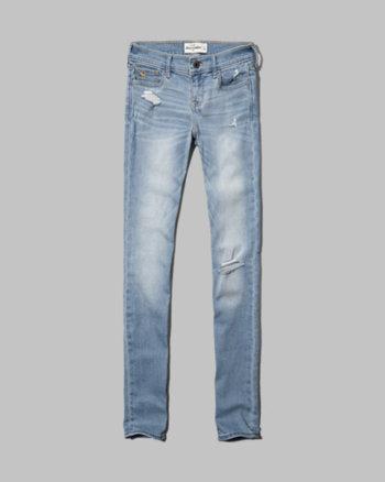 kids a&f brenna super skinny jeans