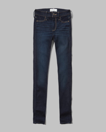 kids a&f hailey high rise jeggings
