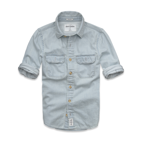 tops mountain pond denim shirt