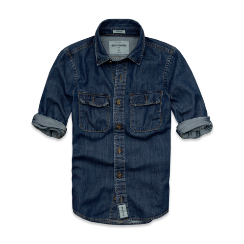 guys schroon river denim shirt