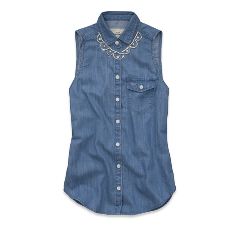 girls caily denim shirt