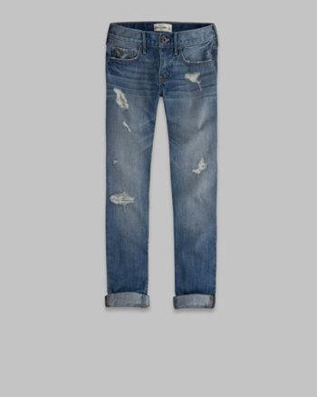 kids a&f cropped boyfriend jeans