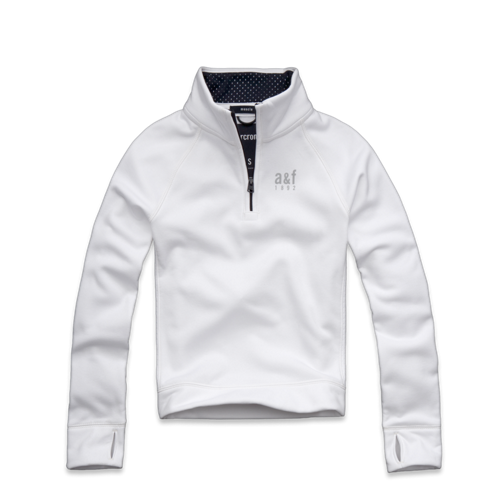 tops a&f active half-zip sweatshirt