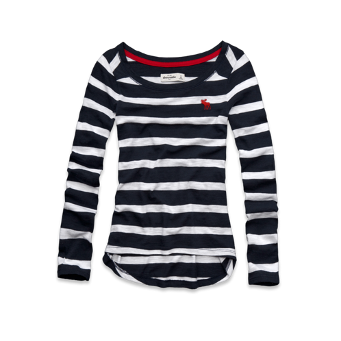 girls classic striped tee