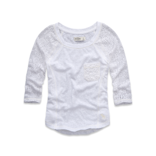 girls shine pocket tee