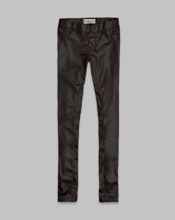 kids a&f vegan leather jeggings