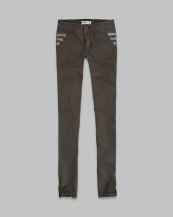 kids a&f military shine pocket pants
