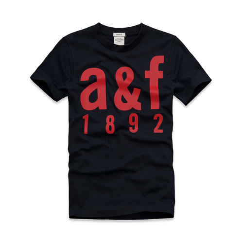 featured items a&f logo tee