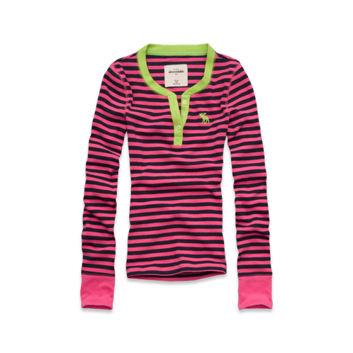 girls soft sleep henley