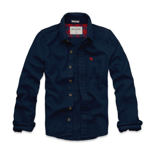 featured items solid flannel shirt
