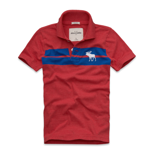featured items bold striped polo