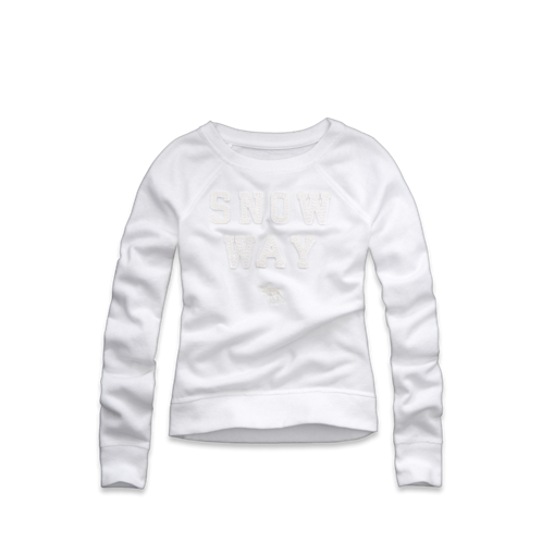 girls snow way graphic sweatshirt