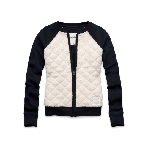 girls cozy quilted sherpa bomber