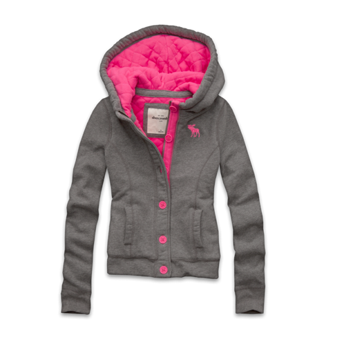 girls quilted cozy fleece jacket