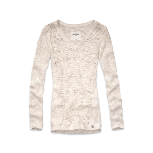 girls long pullover shine sweater