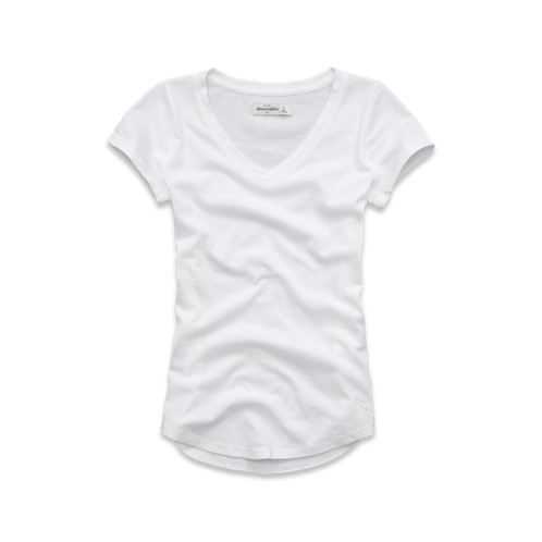 solid short sleeve v-neck tee solid short sleeve v-neck tee