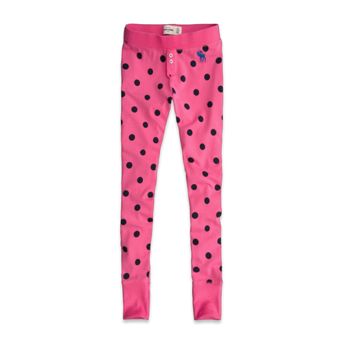 girls dots sleep leggings