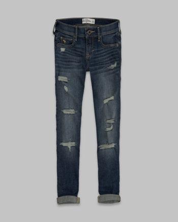kids a&f brenna super skinny ankle jeans