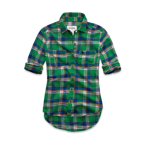 girls cozy flannel shirt