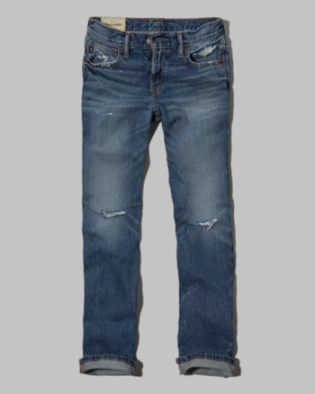 kids a&f classic straight jeans