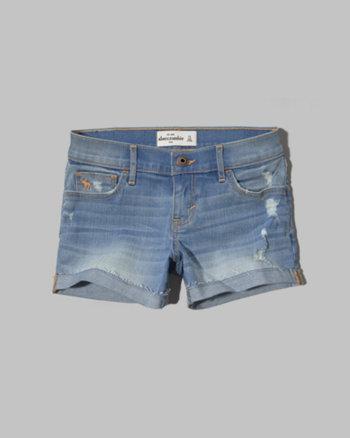 kids a&f low rise midi shorts