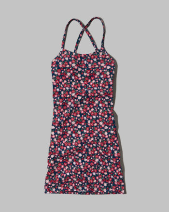 kids floral slim dress