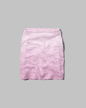 kids high rise ombre lace slim skirt