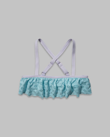 kids ruffle swim top